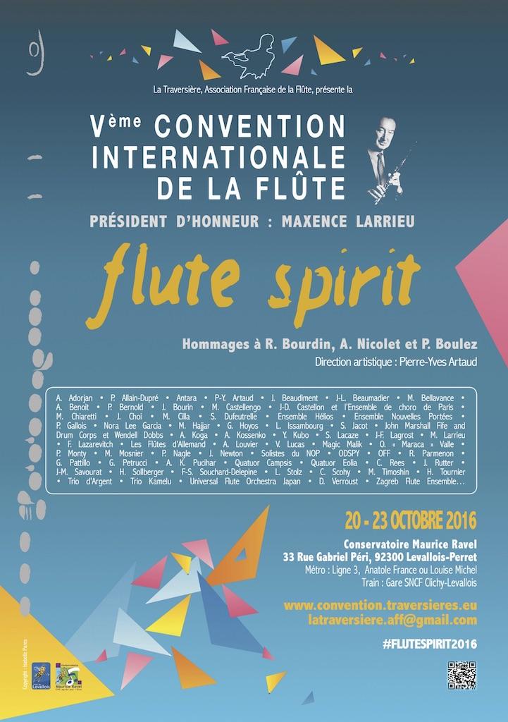 Affiche Convention 2016 - Flute Spirit
